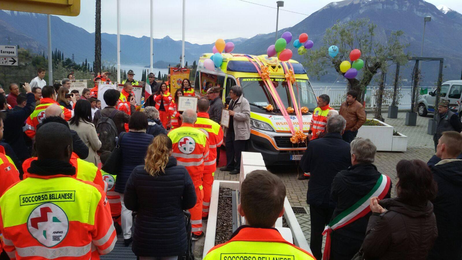 Perledo inaugurazione ambulanza soccorso bellanese 2