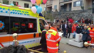 Perledo inaugurazione ambulanza soccorso bellanese