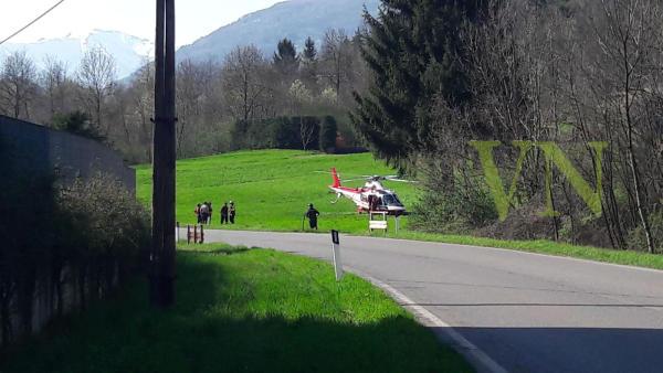 masso cortenova elicottero