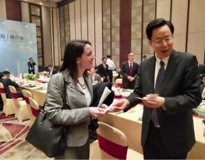 GIANOLA VERONICA con sindaco di Nanchino