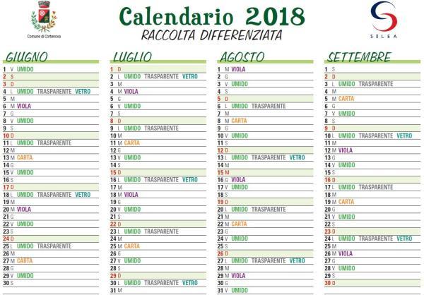 calendario rifiuti cortenova