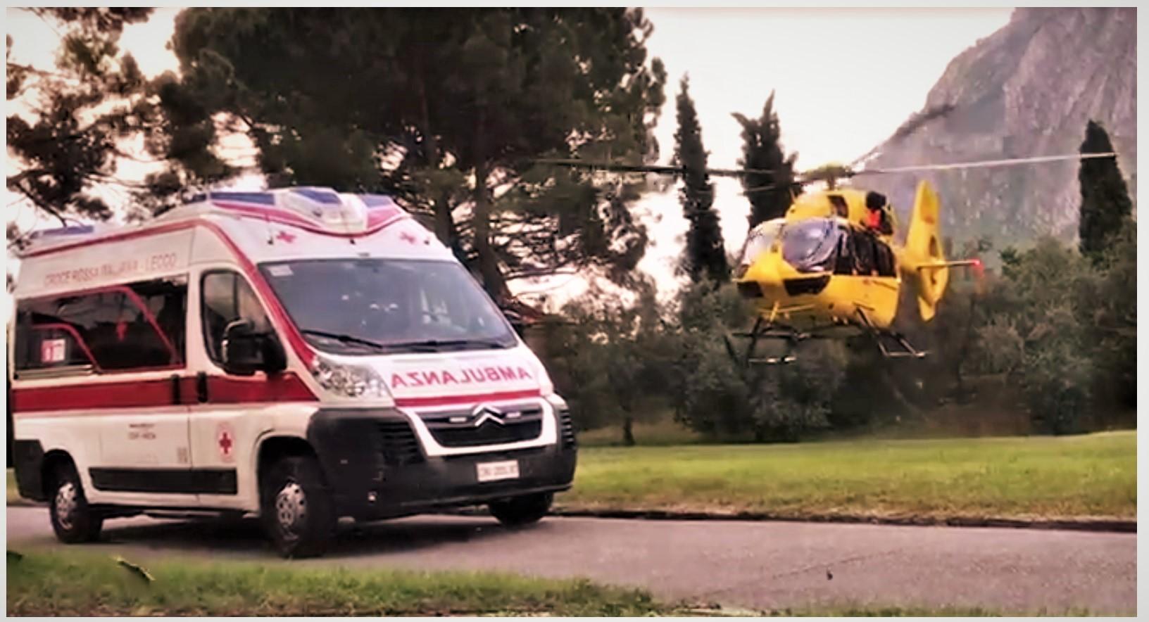 Un Elicottero : Enne ferito dopo un tuffo soccorso da amici ed elicottero