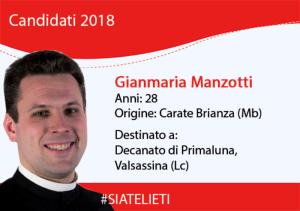 Don Gianmaria Manzotti ordinazione sacerdotale logo