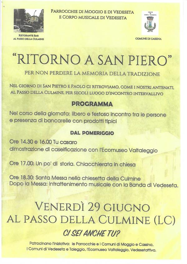 Manifesto Ritorno a San Pietro