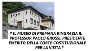PRESIDENTE CORTE COSTITUZIONALE MUSEO ETNOGRAFICO PREMANA