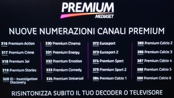 canali premium dal 1 giugno