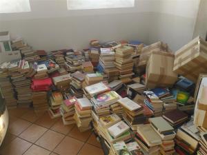 Libri accatastati biblioteca Moggio (Medium)
